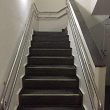 Caixa Economica Federal - Ed. Sede Contorno - Corrimão Duplo em Aço Inox Caixa de Escada