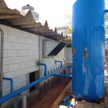 Tokai do Brasil - Planta Industrial de Matheus Leme - Pulmão do sistema de ar comprimido instalado