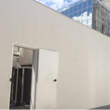 Caixa Econômica Federal - Construção da casa de máquinas. Estrutura metálica e reforço estrutural da laje em fibra de carbono.