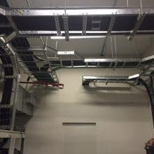 Caixa Econômica Federal - Infraestrutura, sala de nobreak e fechamento steel frame